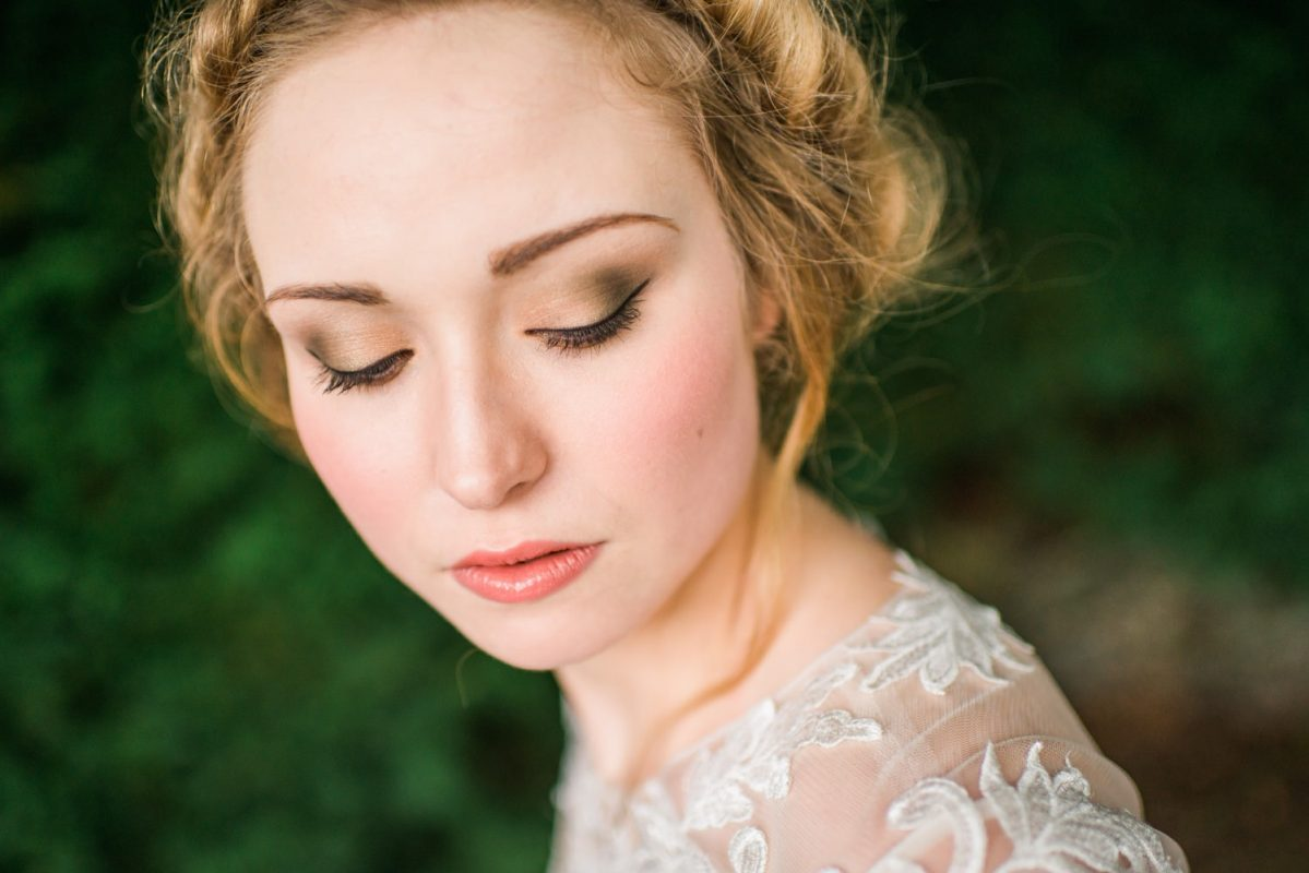 wedding makeup artist lake district editorial photograph